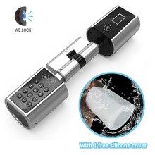 スマートホームアプリ電子ドアロック、 bluetooth レスデジタル安全なロックドアスマートカードキーパッドパスワードピンコードドアロック