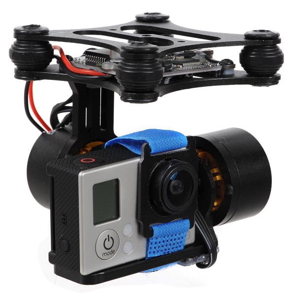Special price 2 Axis Brushless Gimbal Frame Motor BGC2.0 Controller for Gopro 2 3 4 SJ4000 Camera FPV RTF DIY Drone