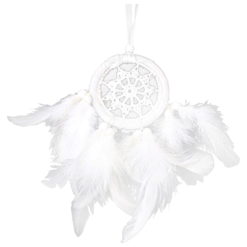 Горячая Распродажа, белые Перо Dream Catcher шарик висит Декор украшение для автомобиля или домашнего декора (#3) ...