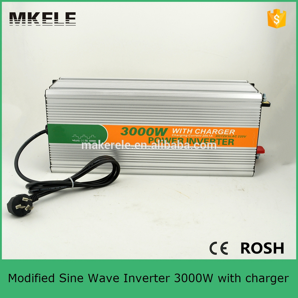 цена на MKM3000-121G-C modified sine power inverter 3000 watt inverter ac 120v dc12v converter inverter for home use with charger