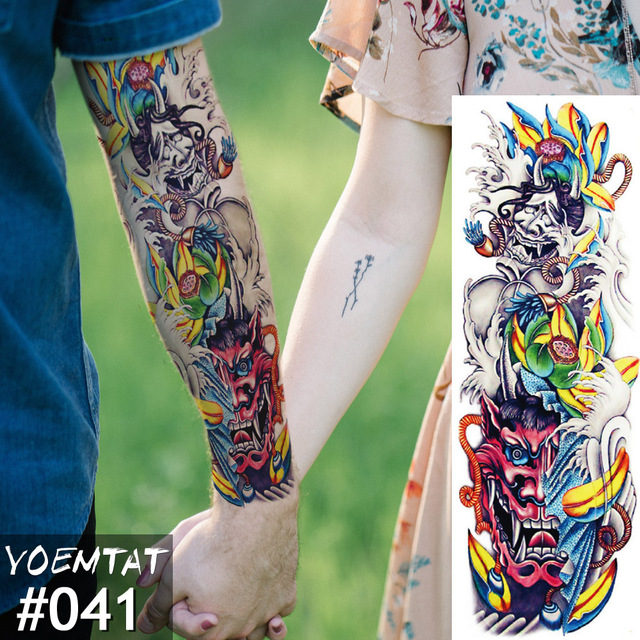 New 1 Piece Temporary Tattoo Sticker Color Full Flower Tattoo With