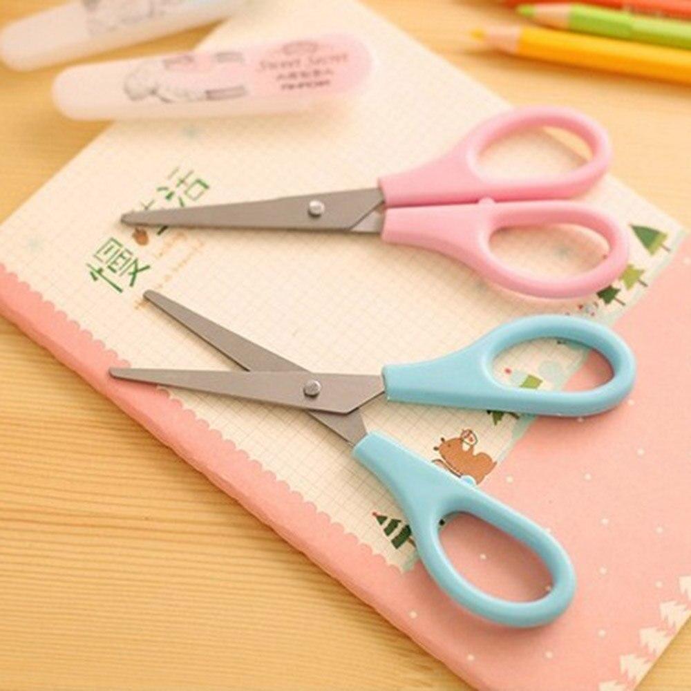 Scissors Impartial 1pc Plastic Scissors Safety Round Head Scissors For Kids Students Paper Cutting Supplies For Kindergarten School