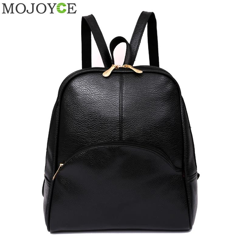 ae81abbe92d4 Fashion Women Backpack PU Leather School Bags for Teenage Girls Travel  Shoulder Bag Student Backpack Mochila