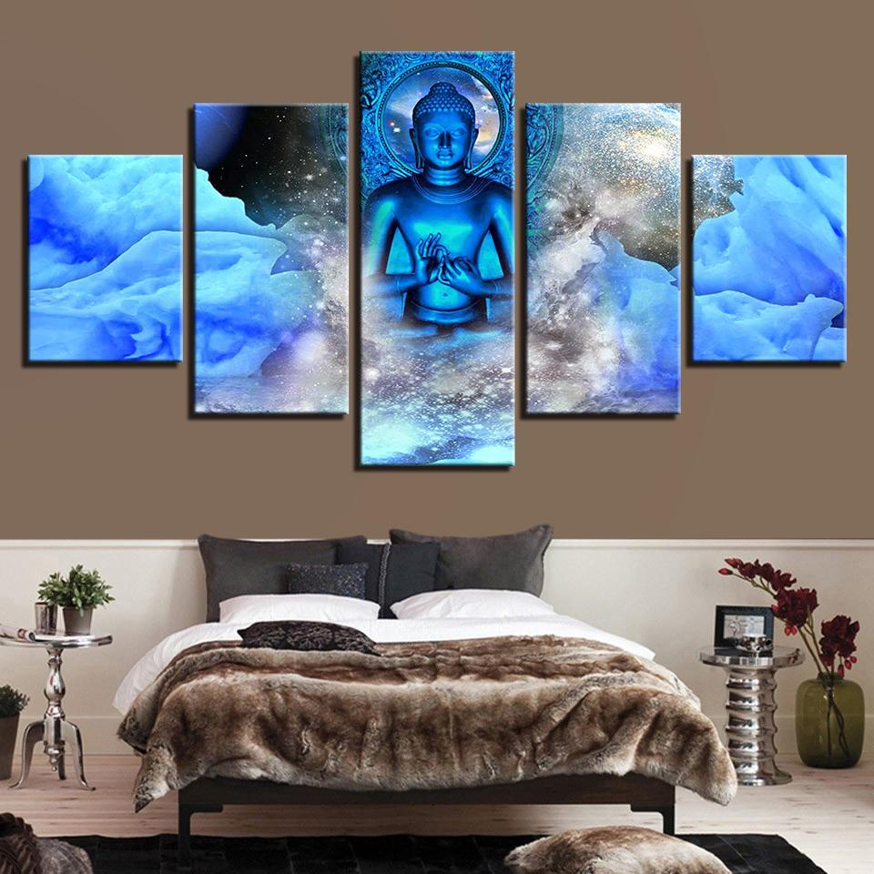 5pcs Canvas Decorative Wall Paintings Bedroom Print Haning Picture Set No Framed