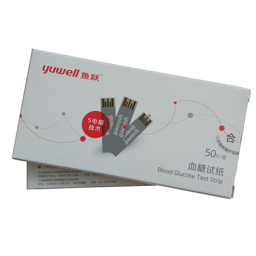 50 pcs test strips+50pcs lancets needles for Glucometer blood sugar glucose meter monitor YUYUE