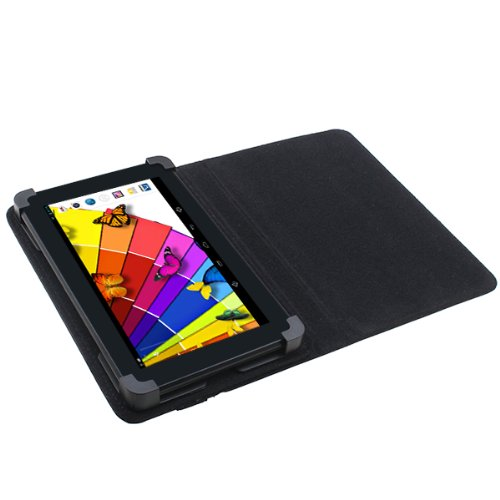 GTFS-Lmitation Leather Stand Cover Case for 7 Inch Android Tablet PC Black