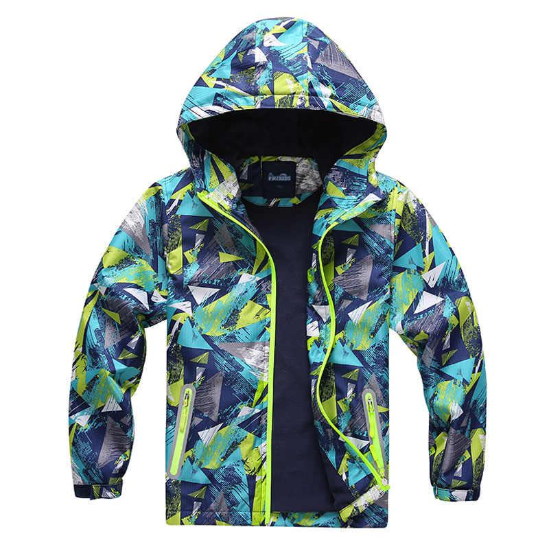 ファッション 2019 春男の子女のジャケットキッズボーイズ上着防水防風パーカージャケット子供のためのフリースコート