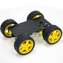 Металлический робот 4wd шасси автомобиля C101 с четырьмя TT моторное колесо для Arduino Uno R3 Diy Maker Eduational обучающий комплект