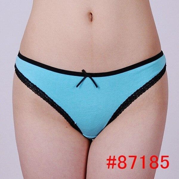 Aliexpress.com : Buy Sexy women Cotton Underwear lace trim no ...