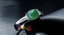 925 silver, platinum plating, natural chrysoprase ring