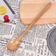 Wooden Spoons Tableware Tea-Mixing Rice-Soup Coffee Large Long