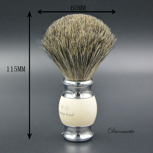 Image 2 - vintage hand crafted pure Badger Hair with Resin Handle  metal base  Shaving Brush for  mens grooming kit