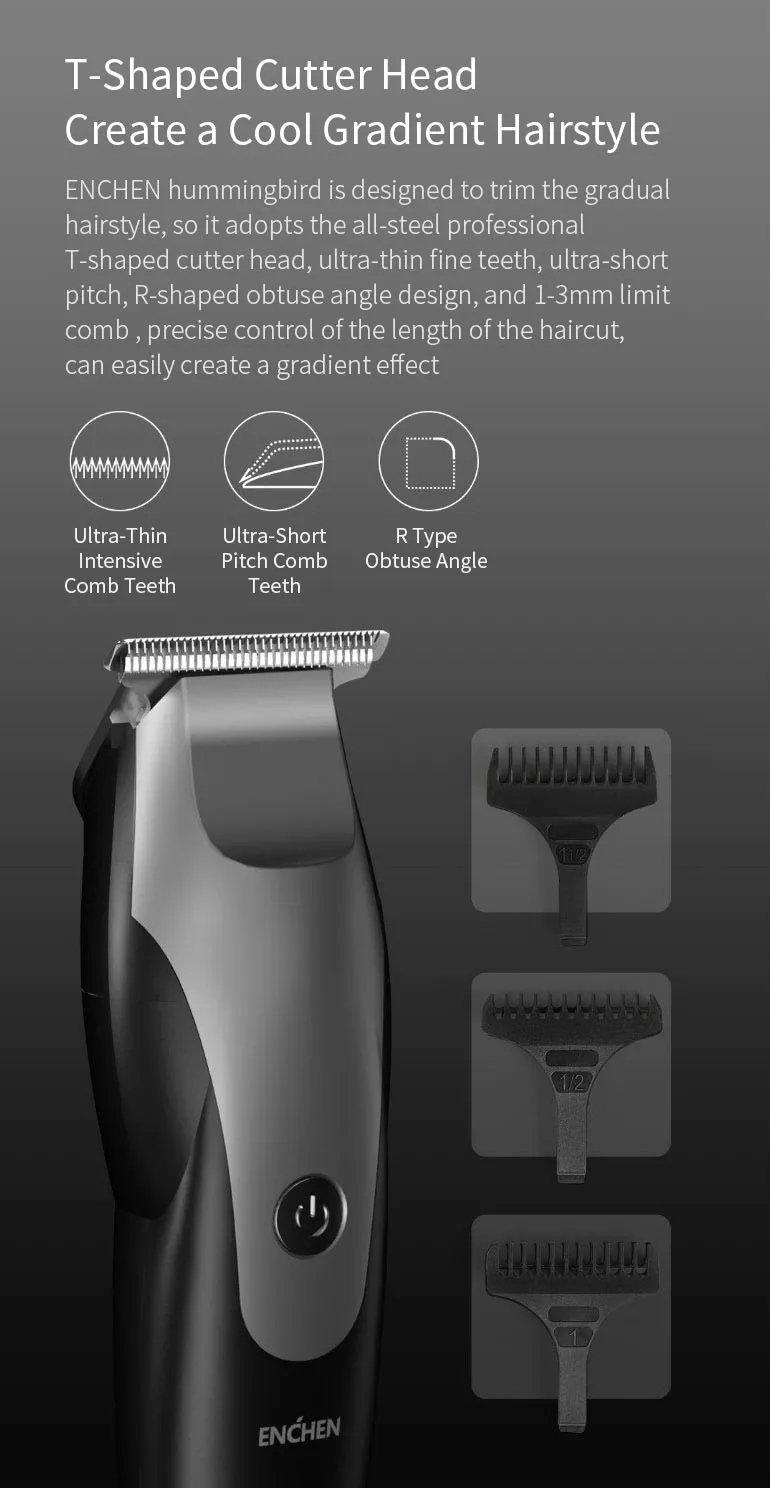 Xiaomi ENCHEN Hummingbird Electric Hair Clipper 6