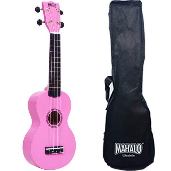 Mahalo MR1PK Укулеле сопрано с чехлом, струны Aquila, цвет розовый, серия Rainbow