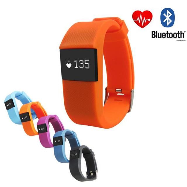 imágenes para Pulso del Ritmo Cardíaco del Pulso Inteligente Pulsera Pulsera Inteligente TW64H Sport Fitness Smartband Tracker para Android iOS Smartphones