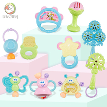 10pc/lot Kids Educational Teething Montessori Toys Crib Mobiles Baby Teether Toy for Girls Waldorf Rattle T0384
