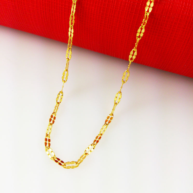 Wholesale 45cm gold chain Fashion women Jewelry Clover necklace ...
