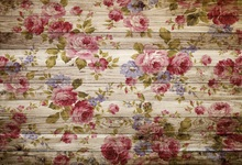 Laeacco Wooden Board Texture Flowers Pattern Portrait Photography Backgrounds Customized Photographic Backdrops For Photo Studio