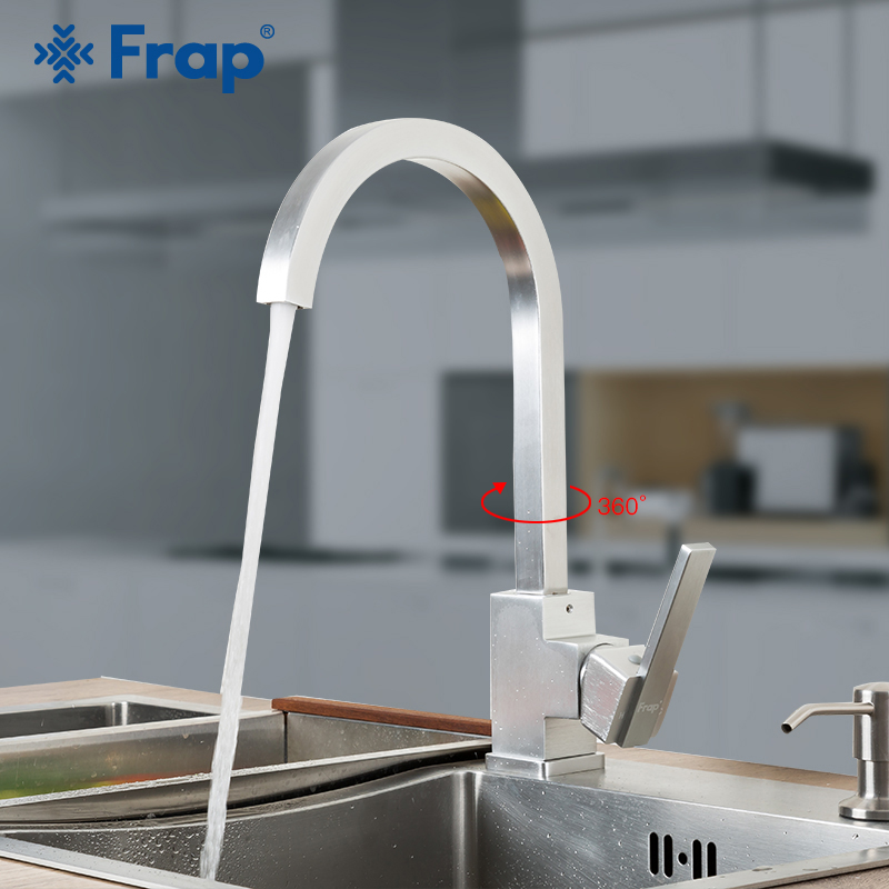Frap New Arrival Kitchen Faucet Fixer Faucets Home Kitchen Mixer Tap Cold-Hot Water Taps Space Aluminum Swivel Crrane F4052-5