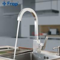 Frap New Arrival Kitchen Faucet Fixer Faucets Home Kitchen Mixer Tap Cold Hot Water Taps Space Aluminum Swivel Crrane F4052 5