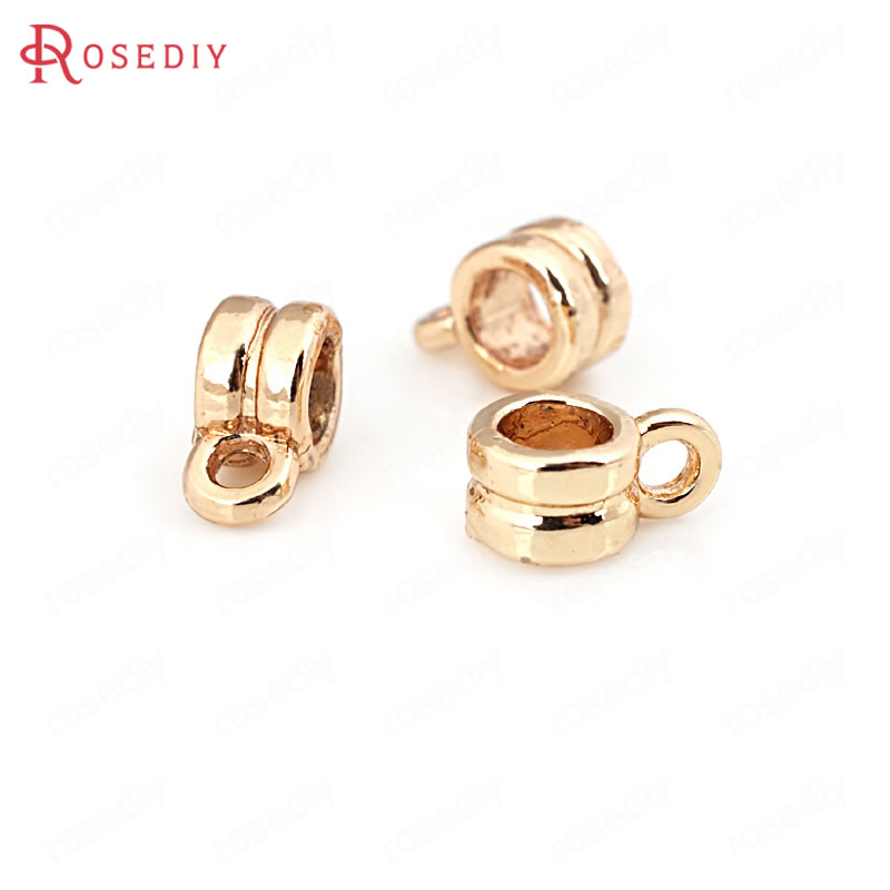 10PCS 12x5MM 24K Champagne Gold Color Brass Charms Pendants Connector 31284