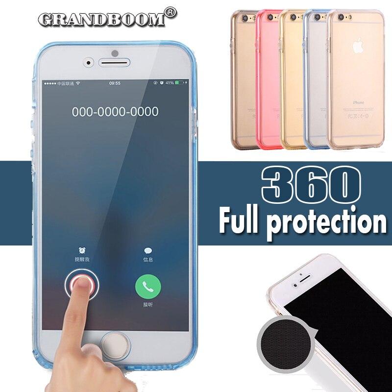 imágenes para 360 grados 100% frontal de cuerpo completo cubierta de la funda detrás para el iphone 7 6 6 s más se 5 5S samsung s6 s7 edge note 5 4 a7 a8 a9 20 unids/lote