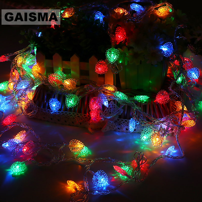 20M 200 Bulbs LED Lights Decoration Garland Christmas String Fairy Lights For Holiday Party Wedding New Year Lighting Chain