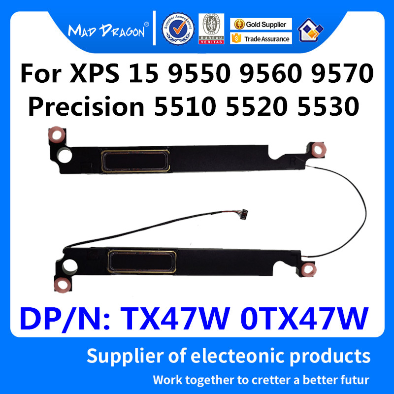 MAD DRAGON Brand Laptop New Speaker Set-R + L Left Right for Dell XPS 15 9550 9560 9570 Precision 5510 5520 5530 TX47W 0TX47W