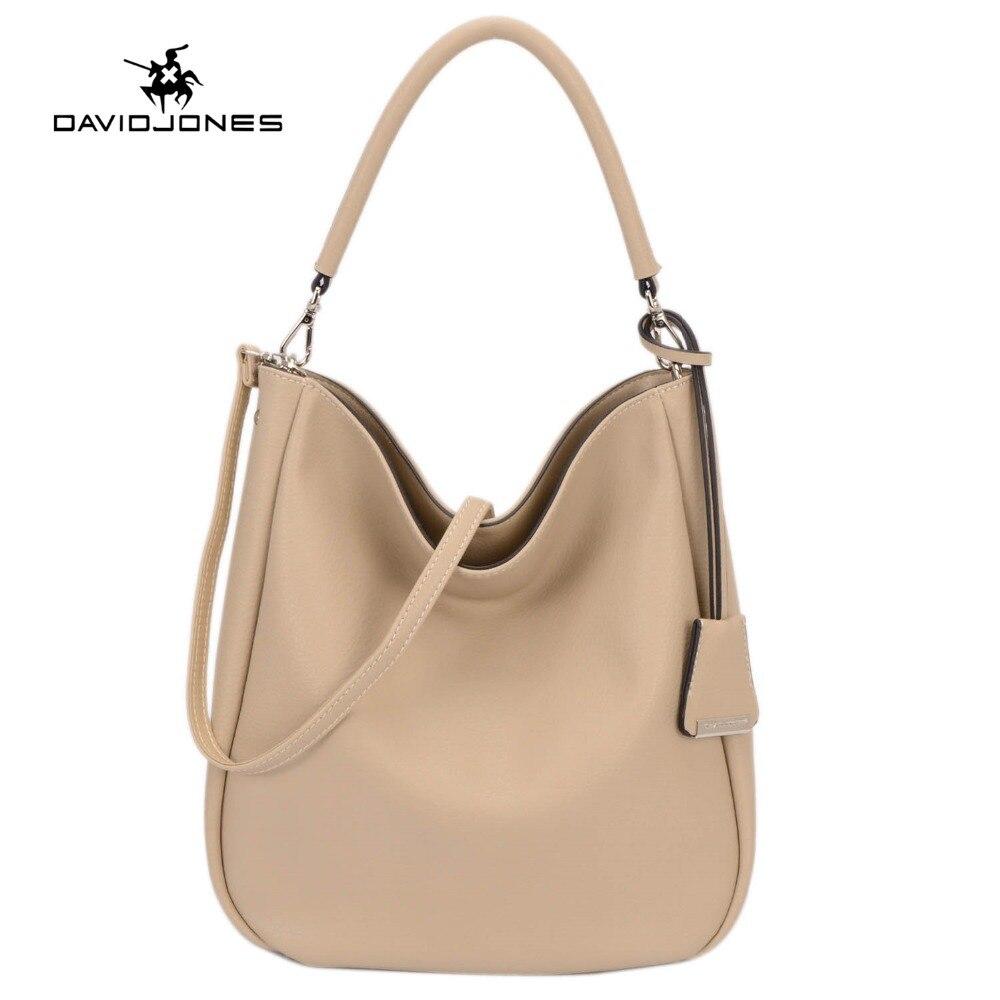 DAVIDJONES Women PU Hobo Bag Fashion shoulder bag High Quality Handbag Casual La