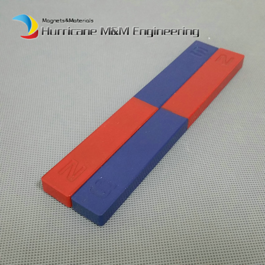 2pcs Magnetic Teaching Tool Magnet Bar type magnet 170x20x10 mm blue red / Toy magnet / office magnet 80 meter plastic soft magnet for advertising teaching frige magnet width 15xthickness 6 mm for notice board toy magnet