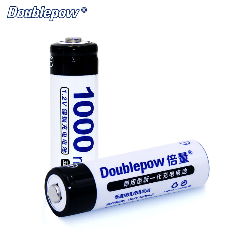8pcs/Lot Doublepow DP-AA1000mA 1.2V Ni-CD Rechargeable Battery in FULL High Capacity of 10% International Tolerance Battery Cell