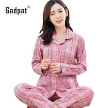 Gadpat плюс Размеры пижамы Наборы для ухода за кожей Домашняя одежда бюст 96-112 см Ночная рубашка; одежда для сна пижамы Для женщин женские пижамы хлопковые пижамы