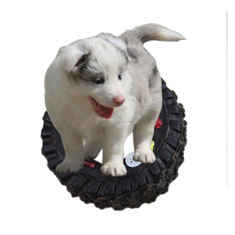 Neumático negro Juguetes Sonoros Perro Mastique Juguetes Nuevos Productos Para M