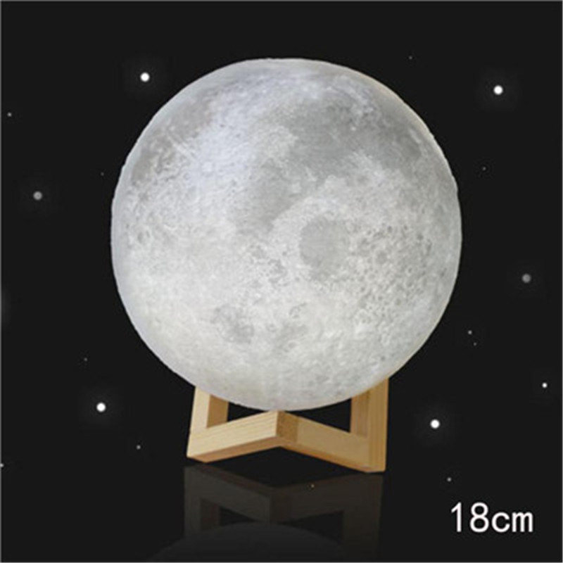 3D moon lamp Light USB Charging Table Desk Moon Night Light Moonlight Touch Switch Bedroom Bookcase Night Light Home Decor 2018