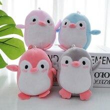 Kawaii 4 colores dulce 12CM aprox. Mini pingüino de peluche colgante juguete de peluche, llavero pingüino regalo fiesta de boda juguete de peluche