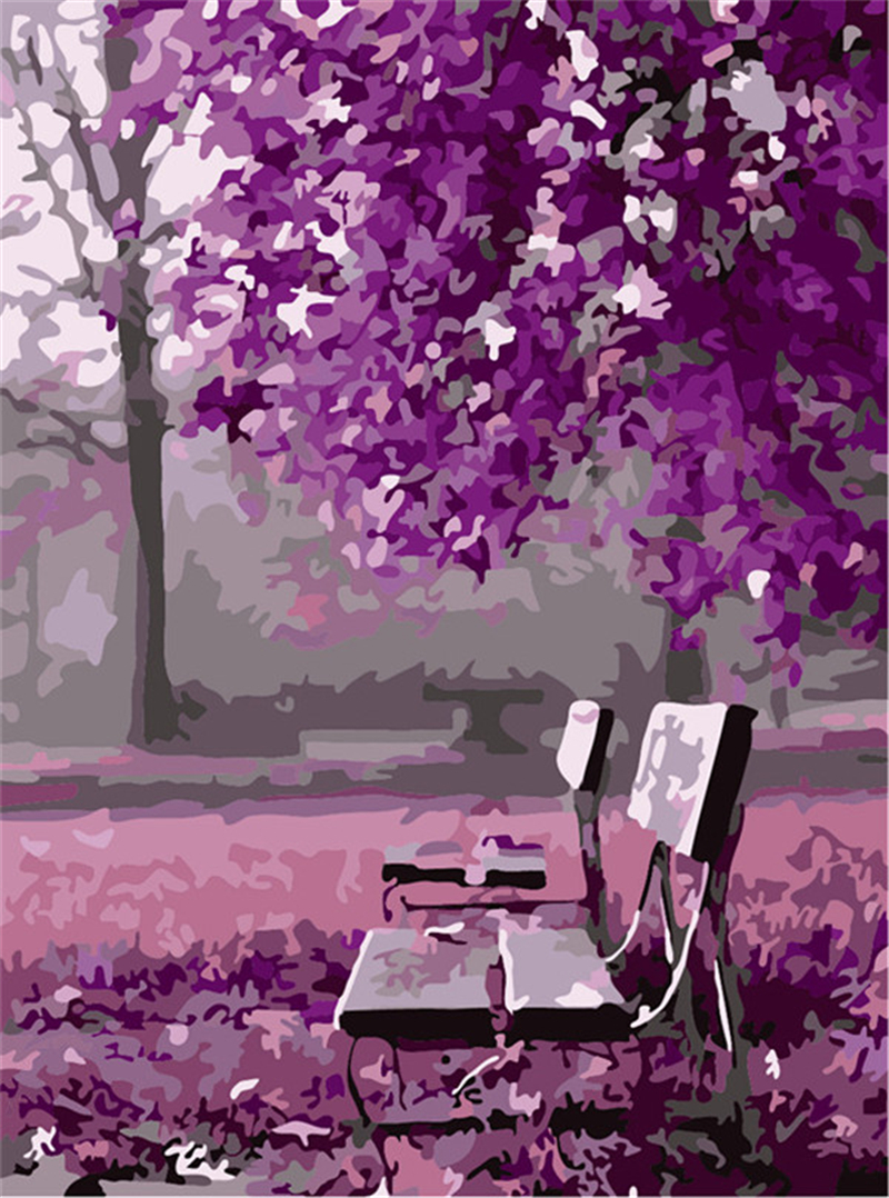 Free Fall Cartoon Wallpaper New Arrival Diy Digital Oil Painting On Canvas Landscape