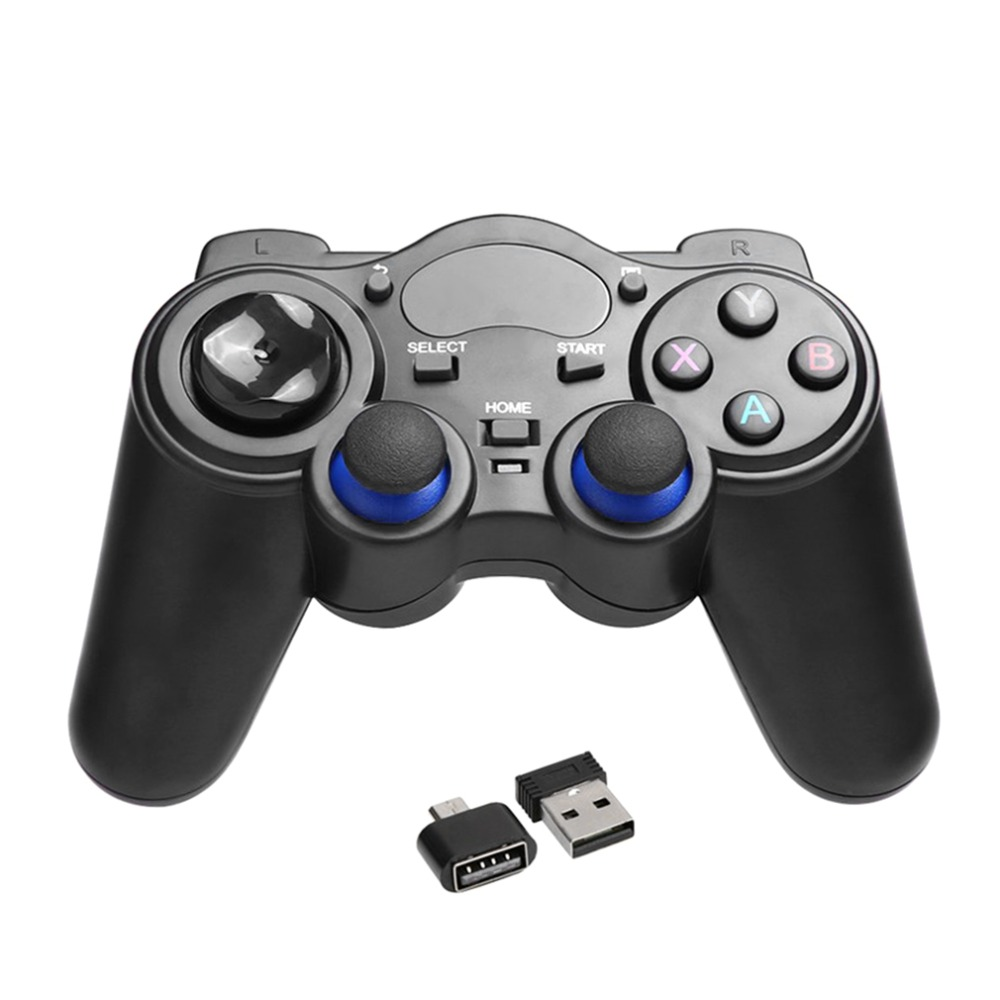 2 4GHz Wireless Game Pad Joypad Controller Handle font b Gamepad b font Joystick With OTG