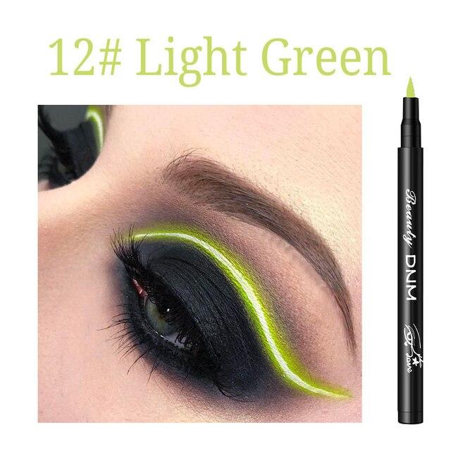 12 Colors Liquid Eyeliner Pencil Waterproof Make Up Eye Liner Pen Matte Black Red Green Colorful Liners Eyes Makeup Long Lasting 5