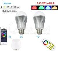 2 4G Wireless RF Remote 4 Pcs 9W E27 RGB Warm Cold White Wifi LED Bulb