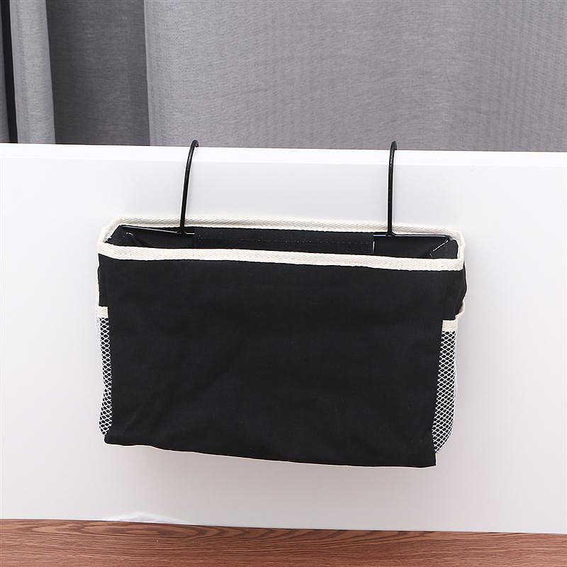 Bedside Storage Organizer Dorm Room Phone Book Magazine Storage Bag Holder  With Hook Tv Remote Caddy Bunk Bed Pocket Save Spac