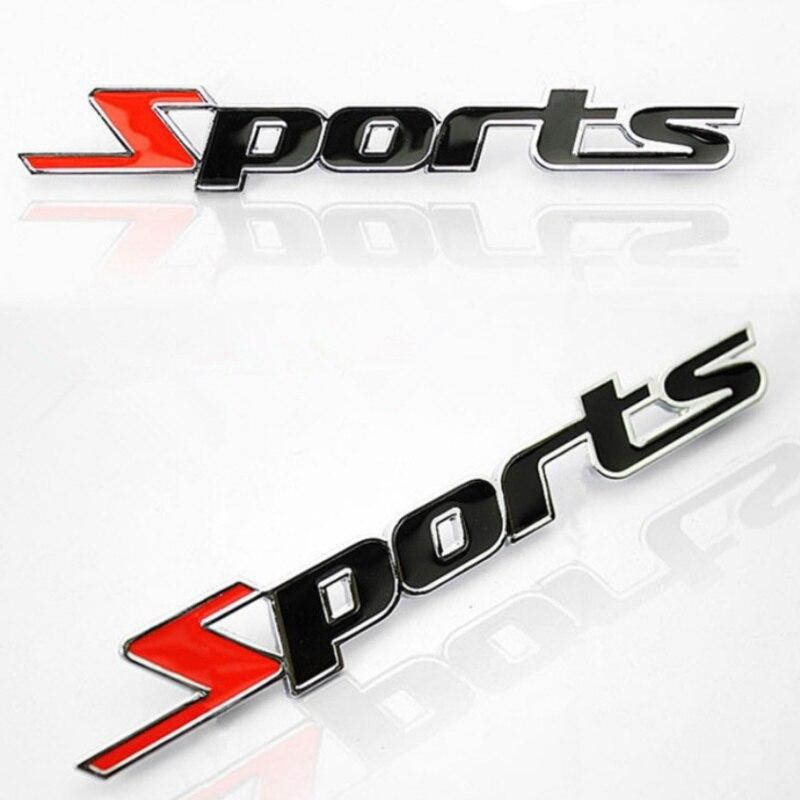 3D Нержавеющаясталь логотип автомобиля Стикеры Спорт Эмблема двери значок наклейка на авто аксессуары для Toyota Highlander BMW HONDA VW KIA