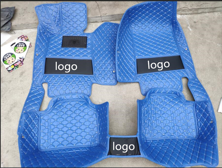 For 2011 2017 Volvo v60 leather Car Floor Auto Mats Waterproof Mat font b Interior b