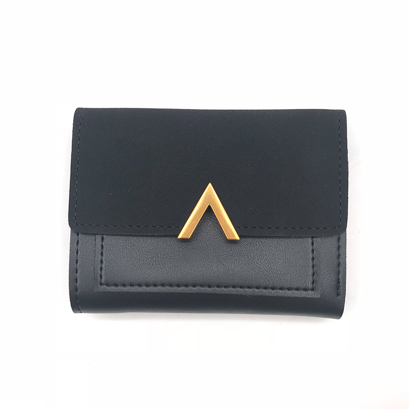 Matte Leather Small Women Wallet Luxury Brand Famous Mini Womens Wallets And Purses Short Female Coin Purse Credit Card Holder 3