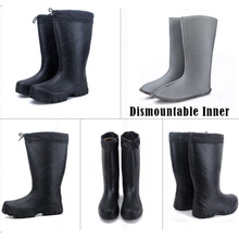 Men Fishing Waders Waterproof  Boot High Water Shoes EVA Outdoor Flat Anti-slip  Rubber Rain Boots
