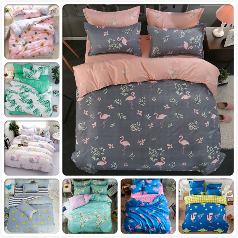 High Quality 4pcs Bedding Set Child Kid 1.5m 1.8m 2m 2.2m Bed Sheet Full King Queen Twin Double Single Size Duvet Cover Bedlinen Power Source