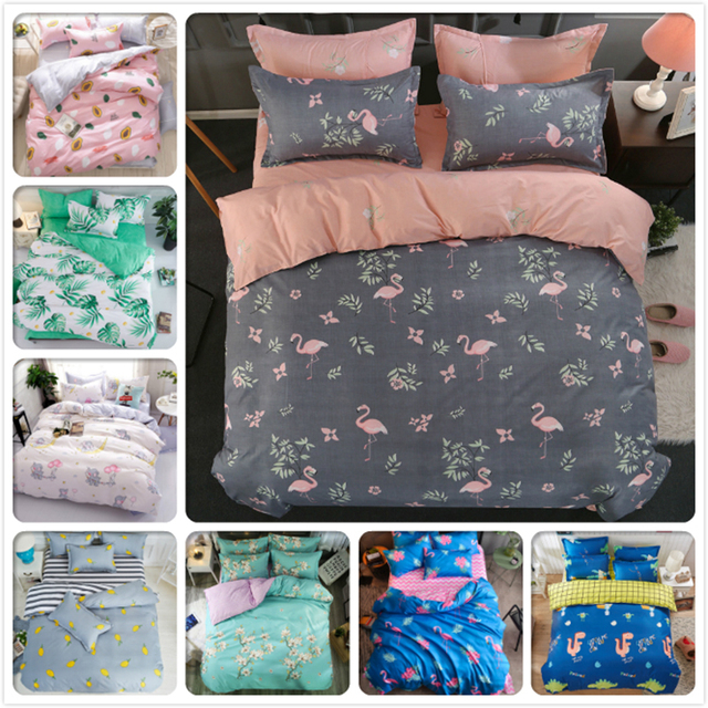 Boy girl    bed sheet full king queen double size duvet cover plant tree flower floral bedding set pcs bedlinens also rh aliexpress