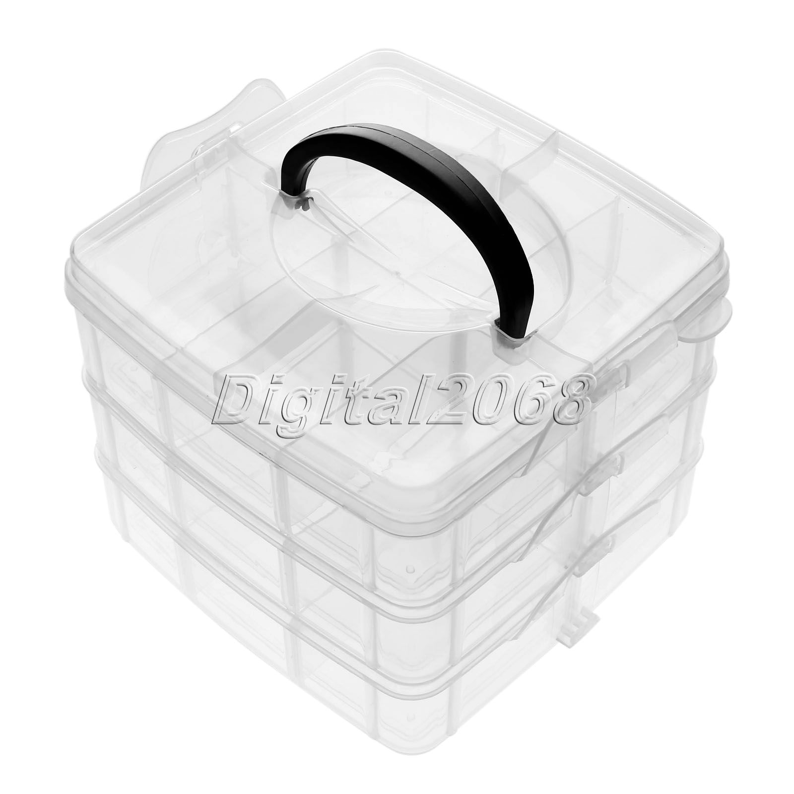 High quality arrival clear plastic craft beads jewellery for Quality craft tool box