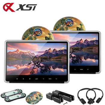 XST 2PCS 11.6 Inch Car Headrest Monitor IPS Touch Button HD 1080P Video Car DVD Player with HDMI/FM/IR/USB/SD/Game/Speaker