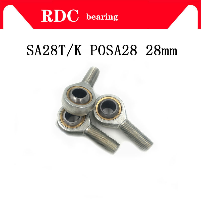 Free Shipping SA28T/K POSA28 rod end bearing 28mm High quality right hand thread male joint bearing factory direct high quality rod end bearing 30mm sa30t k posa30 right hand thread male joint bearing factory direct