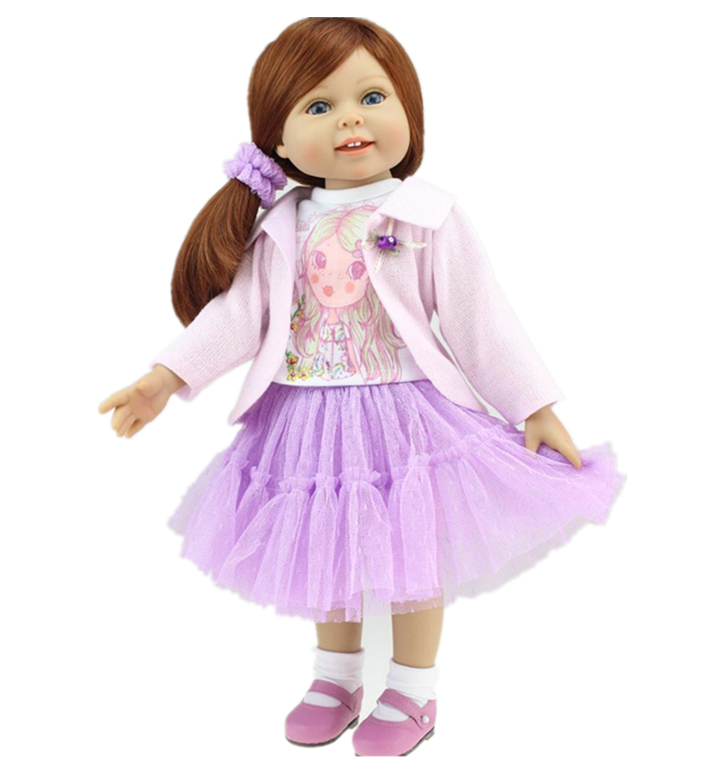 18 Toddler Baby Toys American Girls Dolls Full Vinyl Bathed American Doll Girls Brinqued ...